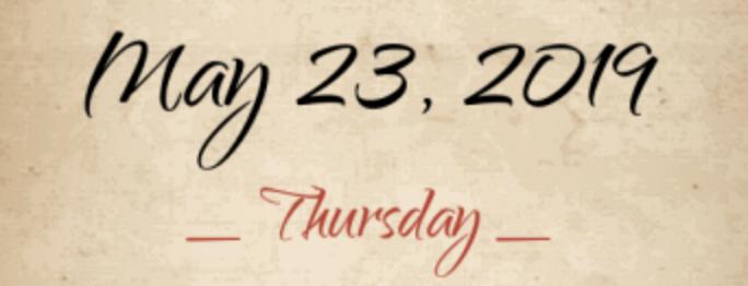 आज 23 मई है, मान लीजिये